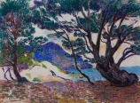 Armand GUILLAUMIN (1841-1927), Maritime Pines, Creek in Le Brusc, ca. 1911, pastel on paper, 48 x 62 cm. © MuMa Le Havre / Charles Maslard