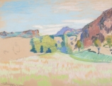 Armand GUILLAUMIN (1841-1927), Agay Valley, pastel on paper, 47.2 x 62.2 cm. © MuMa Le Havre / Charles Maslard