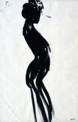 Albert MARQUET (1875-1947), Sinuous Woman (front), ca. 1904, Indian ink on wove paper, 28.5 x 18.8 cm. © MuMa Le Havre / Charles Maslard — © ADAGP, Paris, 2015