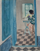 Albert MARQUET (1875-1947), Interior at Sidi-Bou-Said, ca. 1923, oil on stuck canvas on canvas cardboard, 40.7 x 32 cm. © MuMa Le Havre / David Fogel — © ADAGP, Paris, 2015