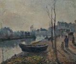 Camille PISSARRO (1831-1903), Quai du Pothuis, Banks of the Oise, 1882, oil on canvas, 46.3 x 55.3 cm. © MuMa Le Havre / David Fogel