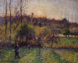 Camille PISSARRO (1831-1903), Sunrise at Éragny, 1894, oil on canvas, 38.3 x 46 cm. © MuMa Le Havre / Florian Kleinefenn
