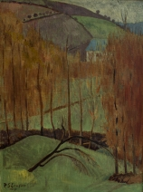 Paul SÉRUSIER (1864-1927), Hill with Poplars, 1907, oil on canvas, 73.3 x 54.4 cm. © MuMa Le Havre / David Fogel
