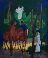 Kees van DONGEN (1877-1968), Horsemen in the Bois de Boulogne, ca. 1908-1909, oil on canvas, 64 x 53.2 cm. © MuMa Le Havre / David Fogel — © ADAGP, Paris, 2013
