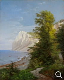 Carl Frederik AAGAARG (1833-1895), View of Mons Klint in Summer, oil on canvas, 52 x 42 cm. Collection particulière. © A. Leprince