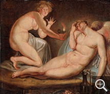 Nicolai ABILDGAARD (1743-1809), Love and Psyché, oil on board, 31 x 35.5 cm. Collection particulière. © A. Leprince