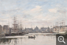 Eugène BOUDIN (1824-1898), The Bassin du Commerce at Le Havre, 1878, oil on wood, 38 x 55 cm. Collection particulière. © Charles Maslard