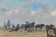 Eugène BOUDIN (1824-1898), The fish-cart, Berck, 1880, , 32 x 45 cm. © The Fitzwilliam Museum, Cambridge