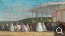 Eugène BOUDIN (1824-1898), Concert au casino de Deauville, 1865, huile sur toile, 41,7 x 73 cm. Collection of Mr. and Mrs. Paul Mellon. © Washington, National Gallery of Art