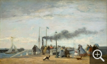 Eugène BOUDIN (1824-1898), Jetty and Wharf at Trouville, 1863, oil on wood, 34.8 x 58 cm. . © Washington, National Gallery of Art