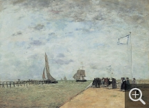 Eugène BOUDIN (1824-1898), Trouville Jetty, 1867, oil on canvas, 47 x 64 cm. © Ordrupgaard, Copenhague / Pernille Klemp