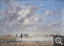 Eugène BOUDIN (1824-1898), Low Tide at Étaples, 1886, oil on canvas, 79 x 109 cm. © Musée des Beaux-Arts - Mairie de Bordeaux / L. Gauthier, F. Deval