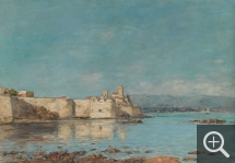 Eugène BOUDIN (1824-1898), Port d'Antibes, 1893, oil on canvas, 46 x 66 cm. . © RMN-Grand Palais (musée d'Orsay) / Adrien Didierjean