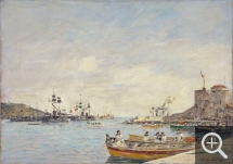 Eugène BOUDIN (1824-1898), Villefranche Harbour, 1892, oil on canvas, 46 x 65 cm. . © National Galleries of Scotland, Dist. RMN-Grand Palais / Scottish National Gallery Photographic Department