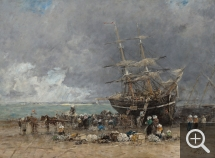 Eugène BOUDIN (1824-1898), Retour du Terre-Neuvier, 1875, huile sur toile, 73,5 x 100,7 cm. Chester Dale Collection. © Washington, National Gallery of Art