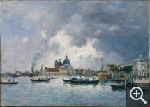 Eugène BOUDIN (1824-1898), Venise, le soir. Le Quai des Esclavons et la Salute, 1895, huile sur toile, 46 x 65 cm. Musée national des beaux-arts du Québec, don de la succession Maurice Duplessis. © MNBAQ / Patrick Altman