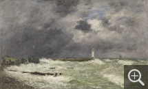 Eugène BOUDIN (1824-1898), Gust of Wind at Frascati, Le Havre, 1896, oil on canvas, 55.5 x 91 cm. Paris, musée des beaux-arts — Petit Palais. © Petit Palais / Roger Viollet