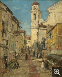 Eugène BOUDIN (1824-1898), Villefranche, ca. 1892, oil on wood, 41 x 32.7 cm. © Williamstown, Sterling and Francine Clark Institute
