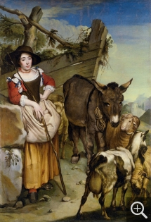 Giacomo CERUTI (1698-1767), Shepherdess, oil on canvas, 203 x 139 cm. Collection particulière. © All rights reserved