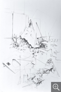 David COSTE, The Laboratory of Prophecies, Drawing no.36, 2013, , 110 x 75 cm. Frac Haute-Normandie