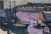 Maurice DENIS (1870-1943), The Port of Brest, ca. 1932, oil on board, 42 x 61 cm. © Brest, musée des beaux-arts