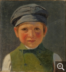 Anton Laurids Johannes DORPH (1831-1914), Portrait of a young fisherman wearing a cap, oil on canvas, 22 x 19 cm. Collection particulière. © A. Leprince