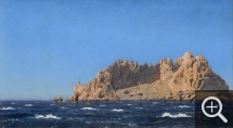 Holger Henrik Herholdt DRACHMANN (1846-1908), View of Maïre Island in the Bay of Marseille, ca. 1867, oil on canvas, 32 x 57 cm. Collection particulière. © A. Leprince