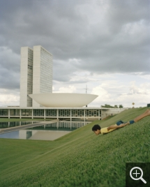 George DUPIN (1966), Brasília 1 (triptych), 2005, inkjet print, 50 x 40 cm. Collection of the artist. © George Dupin