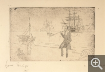 Lyonel FEININGER (1871-1956), At the Seaside, 1911, etching, 13.7 x 21.6 cm. Private collection. © Maurice Aeschimann — © ADAGP, Paris, 2015