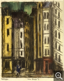 Lyonel FEININGER (1871-1956), Tall Houses V, 1917, quill, Indian ink, charcoal and watercolour on paper, 31.6 x 23.3 cm. Collection particulière. © All rights reserved — © ADAGP, Paris, 2015