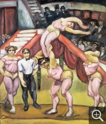 Othon FRIESZ (1879-1949), The Acrobats, 1908, oil on canvas, 134 x 115 cm. Paris, collection Larock-Granoff. © All rights reserved — © ADAGP, Paris, 2013