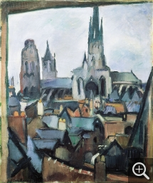 Othon FRIESZ (1879-1949), Rouen Cathedral, 1908, oil on canvas, 55 x  46.3 cm. © Grenoble, musée — © ADAGP, Paris, 2013