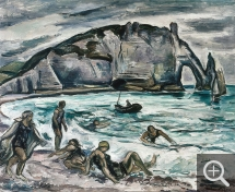 Othon FRIESZ (1879-1949), Etretat, 1921, oil on canvas, 82 x 100 cm. Collection particulière. © Pierre Aubert — © ADAGP, Paris, 2013