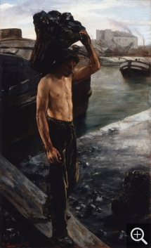 Henri GERVEX (1852-1929), The Coal Carrier. Study for The Quai de la Villette in Paris, 1882, oil on canvas, 117 x 70 cm. Lille, palais des beaux-arts. © RMN-Grand Palais / René-Gabriel Ojéda