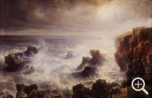 Théodore GUDIN (1802-1880), Storm on the Shores of Belle-Île, 1851, oil on canvas, 131.5 x 202.5 cm. © Quimper, musée des beaux-arts