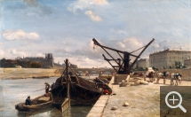 Johan Barthold JONGKIND (1819-1891), Le Quai d'Orsay and the Hoisting Machin, 1852, oil on canvas, 27 x 42 cm. © Bagnères-de-Bigorre, musée Salies