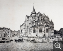 Émile LETELLIER (1833-1893), Church and Castle of Eu, 1893, rotogravure, 25.4 x 31.7 cm. Rouen, Pôle Image Haute-Normandie. © Émile Letellier