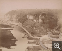 Émile LETELLIER (1833-1893), Tancarville, view of the castle and the village, 1877, photography, 39 x 47.5 cm. © Le Havre, bibliothèque municipale / Émile Letellier