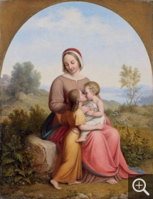 Johan Ludwig Gebhard LUND (1777-1867), Virgin and Child with St. John before a Landscape, 1831, oil on wood, 36 x 28 cm. Collection particulière. © A. Leprince