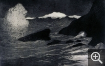 Maxime MAUFRA (1861-1918), The Wave, 1894, etching and aquatint, 34.8 x 54 cm. © Paris, BnF
