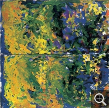 Joan MITCHELL (1925-1992), The Big Valley no.IX, 1983-1984, oil on canvas. © Frac Haute-Normandie / J. Hyde