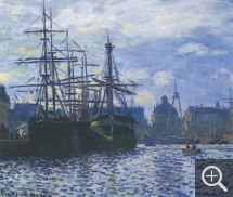 Claude MONET (1840-1926), The Bassin du Commerce, Le Havre, 1874, oil on canvas, 37 x 45 cm. Liège, musée des beaux-arts. © BAL