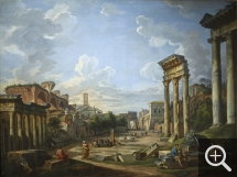 Giovanni Paolo PANNINI (1691-1765), View of the Campo Vaccino in Rome, 1742, oil on canvas, 74.7 x 99.2 cm. © Cherbourg-Octeville, musée d'art Thomas Henry / Daniel Sohier