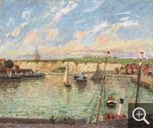 Camille PISSARRO (1831-1903), The Outer-Harbour of Dieppe, Afternoon, Sunny Weather, oil on canvas, 54 x 65 cm. Collection particulière. © Westimage