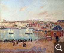 Camille PISSARRO (1831-1903), The Outer-Harbour of Dieppe, Afternoon, Sun, 1902, oil on canvas, 53.5 x 65 cm. Dieppe, château-musée. © Ville de Dieppe / BL Legros
