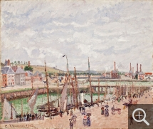 Camille PISSARRO (1831-1903), Darse de pêche, Dieppe, temps gris, pluie, 1902, huile sur toile. © Worcester Art Museum, Stoddard Acquisition Fund in memory of Mr and Mrs Robert W. Stoddard