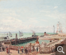 Camille PISSARRO (1831-1903), Entrance to the Port of Le Havre and the Western Breakwater, Sun, Morning, oil on canvas, 57.2 x 64.8 cm. © Memphis, Dixon Gallery & Gardens