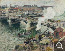 Camille PISSARRO (1831-1903), The Pont Boieldieu in Rouen, Rainy Weather, 1896, oil on canvas, 73.6 x 91.4 cm. Toronto, musée des beaux-arts de l'Ontario. © Paris, archives Durand-Ruel / Routhier