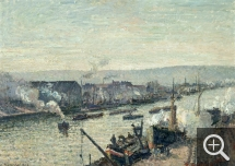 Camille PISSARRO (1831-1903), The Seine at Rouen, Saint-Sever, 1896, oil on canvas. Paris, musée d'Orsay. © RMN-Grand Palais / Hervé Lewandowski