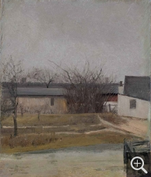 Laurits Andersen RING (1854-1933), Barnyard in Winter, oil on canvas pasted on canvas, 28 x 24 cm. Collection particulière. © A. Leprince